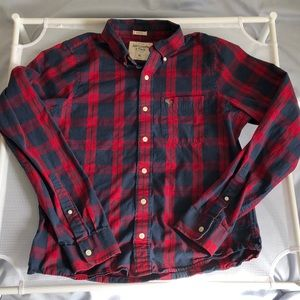 Abercrombie & Fitch Plaid Muscle Button Shirt